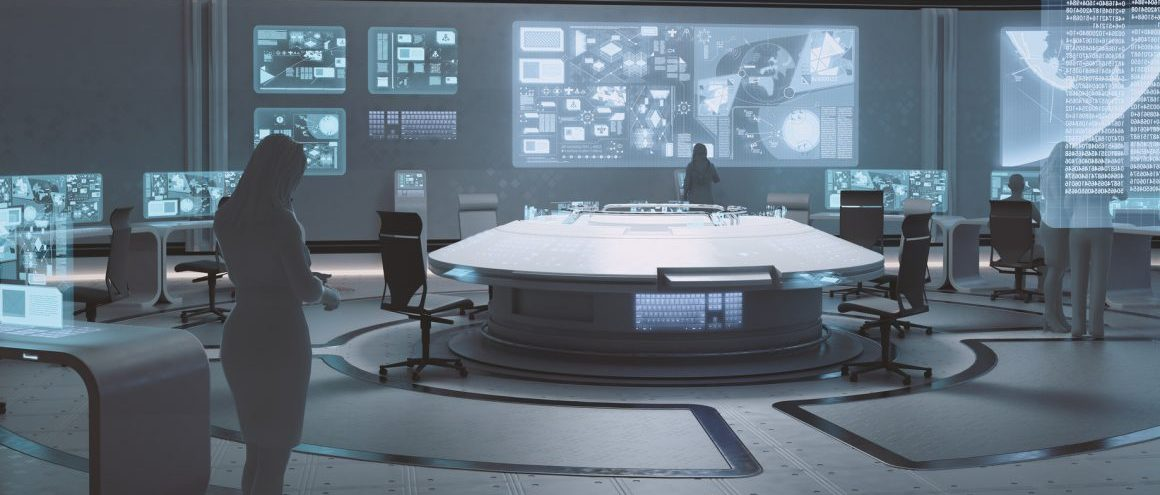 Futuristische Kommando Zentrale